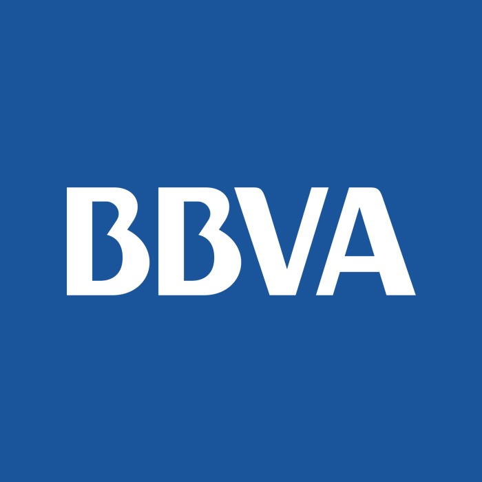 bbva in white text and blue backgrond