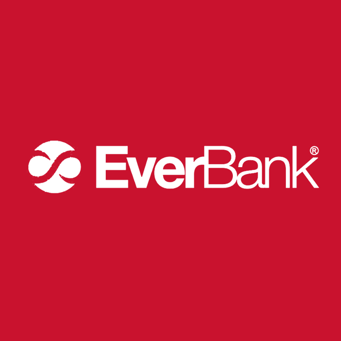 everbank in white text and red background