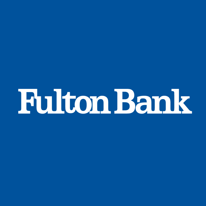 fulton bank in white text and blue background